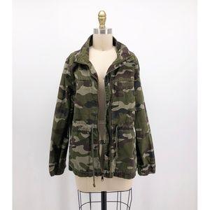 OLD NAVY Camo Zip Front Flack Jacket Coat